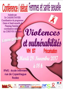 Femmes et santé sexuelle, violences et vulnérabilités @ l'IFMS (école d'infirmiers) | Rodez | Occitanie | France