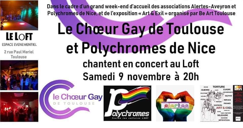 ALERTES à Toulouse avec le Chœur Gay de Toulouse @ Le Loft