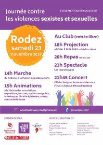Manif contre les violences sexistes et sexuelles avec NOUS TOUTES 12 @ Maison des Associations, Rodez